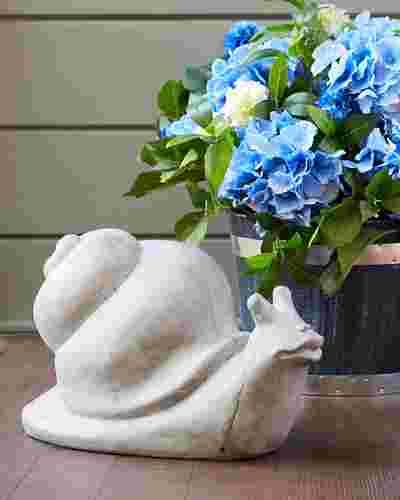 Whimsical Snail Garden Statue by Balsam Hill SSC 10