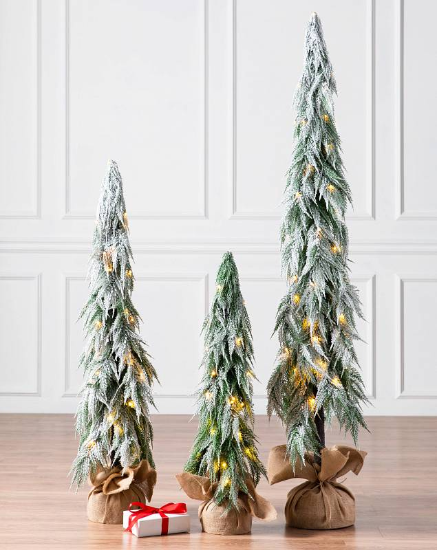 Snowfall Downswept Tree by Balsam Hill Lifestyle 10