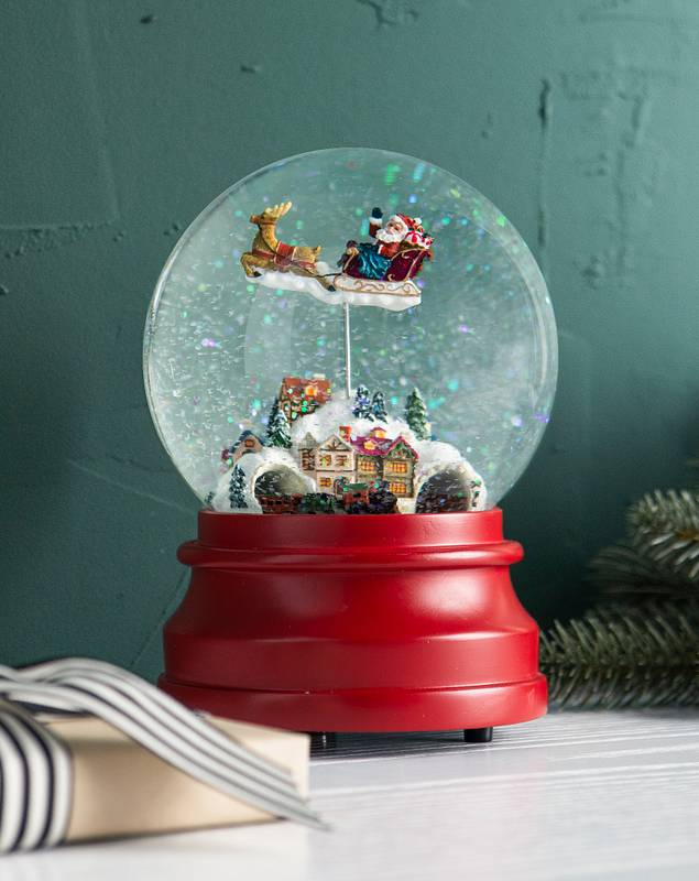 Santas Village Animated Snow Globe by Balsam Hill SSC