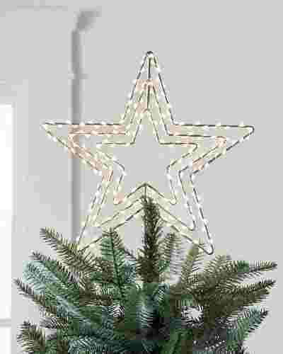 Lit Swivel Star Tree Topper by Balsam Hill
