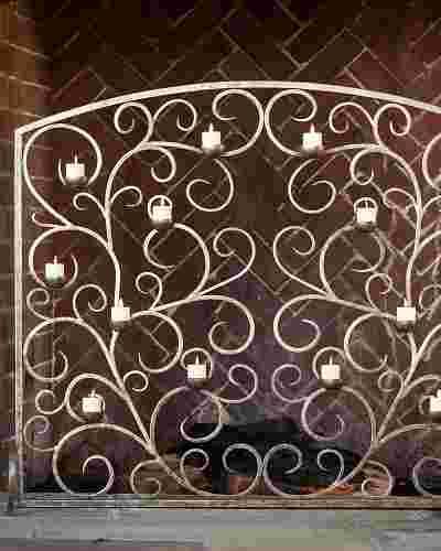 Tea Light Fireplace Screen by Balsam Hill SSC 10