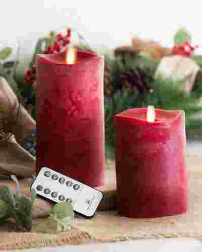Miracle Flame LED Wax Christmas Candles by Balsam Hill Main