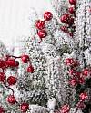 Red Berry Frosted Fraser Fir Foliage by Balsam Hill Closeup 10