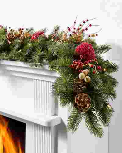 Vermont White Spruce Bordeaux Garland 6ft LED Clear by Balsam Hill SSC