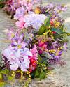 Vibrant Summer Bloom Garland by Balsam Hill Closeup