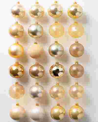 BH Essentials Gold Tonal Ornament Set of 24 by Balsam Hill
