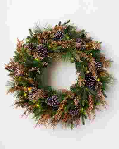 Heather & Pinecone Wreath by Balsam Hill
