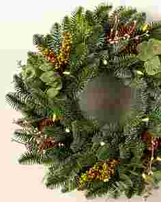18 inches Clear LED Mountain Meadow Wreath   by Balsam Hill SSCR