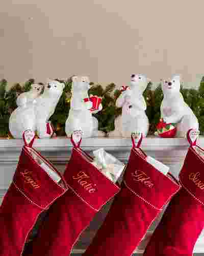 Polar Bear Family Christmas Stocking Holder by Balsam Hill Lifestyle 10