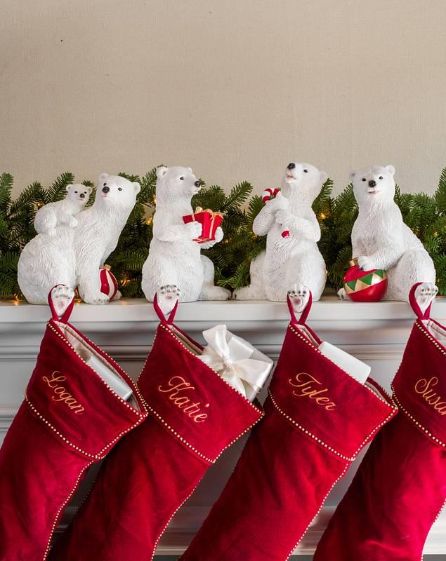 Polar Bear Family Christmas Stocking Holder by Balsam Hill Lifestyle 10
