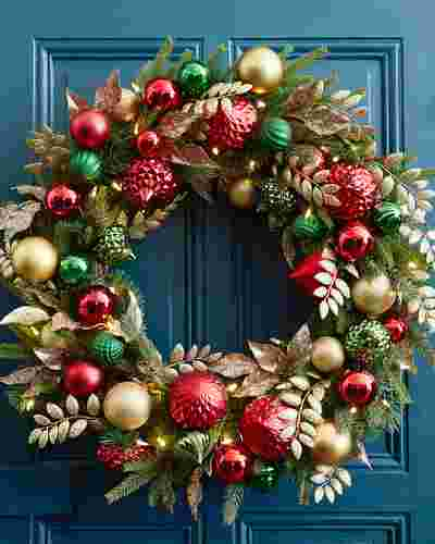 Deck the Halls Wreath by Balsam Hill SSC 10