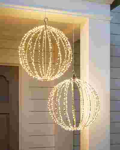 16in Outdoor LED Orbs by Balsam Hill SSC
