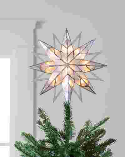 11in Blue Double Sided Starburst Tree Topper by Balsam Hill
