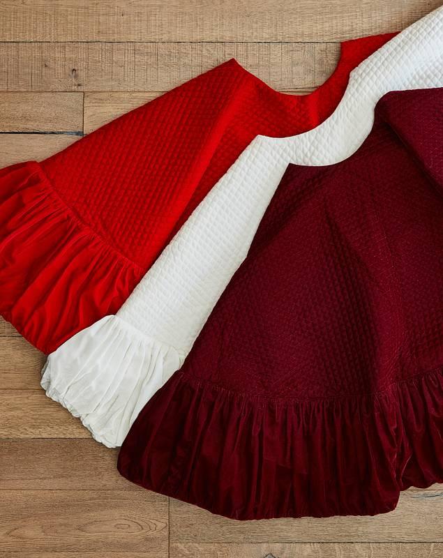 Pleated Velvet Tree Skirt by Balsam Hill Lifestyle 10