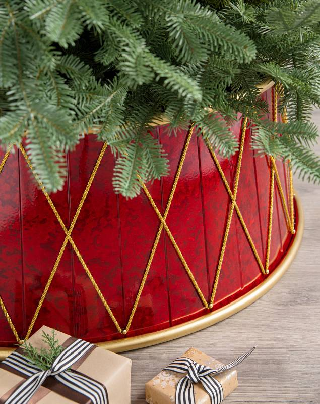 Christmas Drum Tree Collar by Balsam Hill