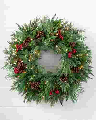 Winter Evergreen Wreath by Balsam Hill SSC