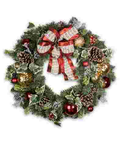 Christmas Carols Wreath by Balsam Hill SSC 10