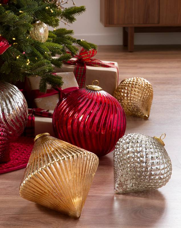 Giant Mercury Glass Ornaments by Balsam Hill