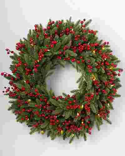 Red Berry Fraser Fir Wreath by Balsam Hill