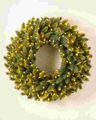 Vermont White Spruce Ultrabright Wreath by Balsam Hill SSC