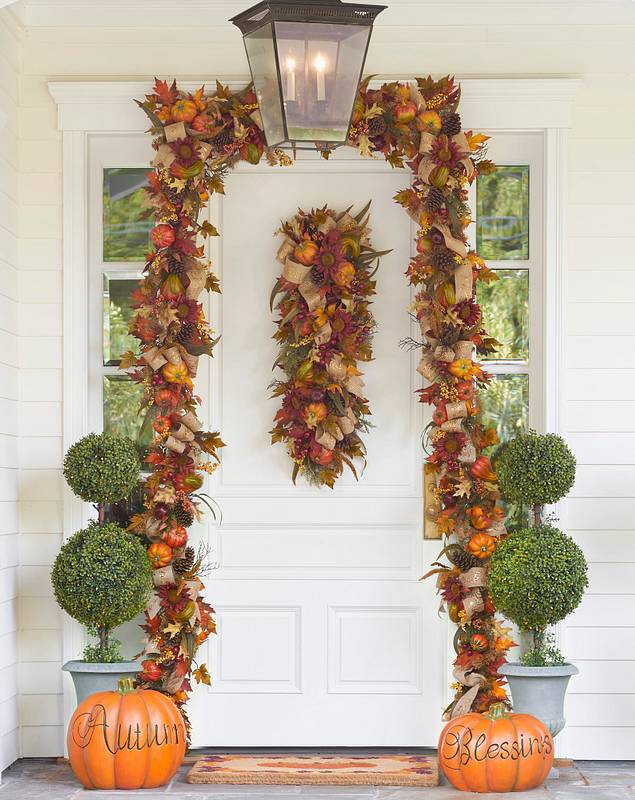 Fall Harvest Garland by Balsam Hill Lifestyle 10
