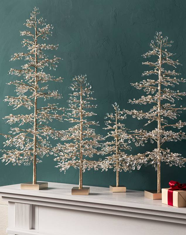 Crystal and Pearl Champagne Tree by Balsam Hill Lifestyle 10
