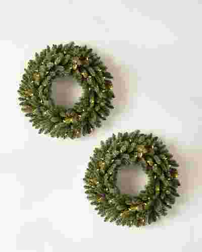 Classic Blue Spruce Wreath, Set of 2 by Balsam Hill SSC 10