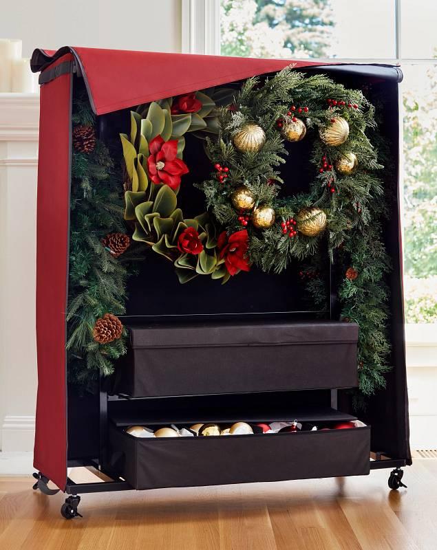 Wreath & Garland Rolling Storage Chest by Balsam Hill