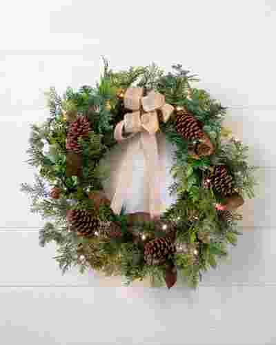 Outdoor Cedar Lodge Wreath by Balsam Hill SSC
