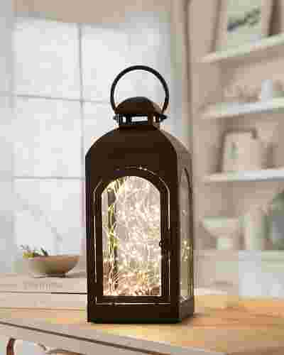 Classic Fairy Light Lantern by Balsam Hill