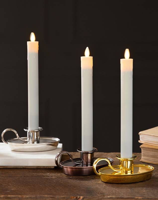 Chamberstick Candle Set of 2 by Balsam Hill Main