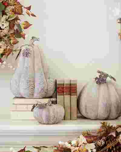 Faux Wood Pumpkins by Balsam Hill