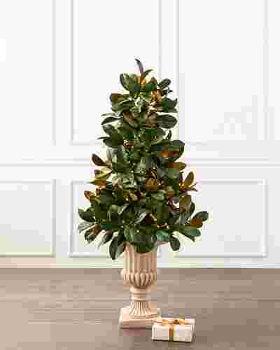 Pre Lit Magnolia Tree in Urn by Balsam Hill SSC