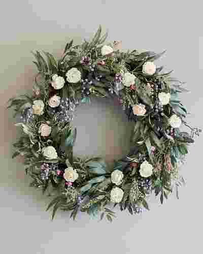 Marseille Meadow Wreath by Balsam Hill SSC 10