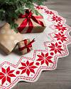 60in Nordic Snowflake Tree Skirt by Balsam Hill
