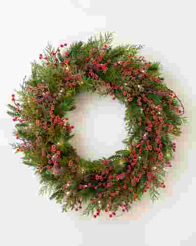 Sugared Berry Forest Wreath by Balsam Hill SSC