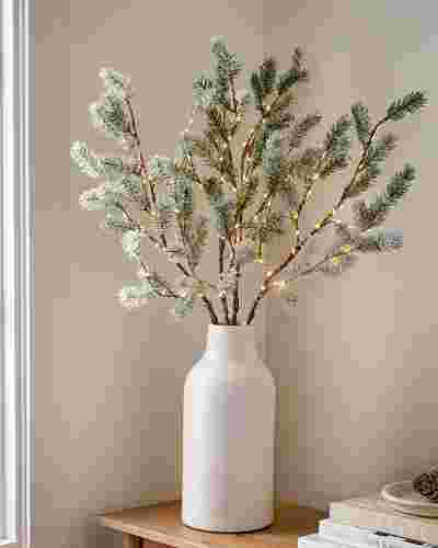 Lit Frosted Pine Branches by Balsam Hill SSC