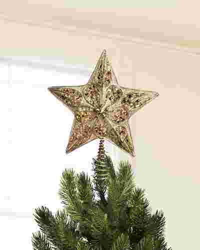 Silver and Gold Star Christmas Tree Topper by Balsam Hill