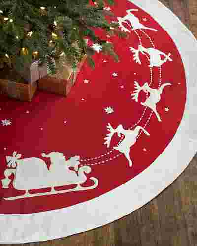 Dashing Through the Snow Tree Skirt by Balsam Hill SSC 10