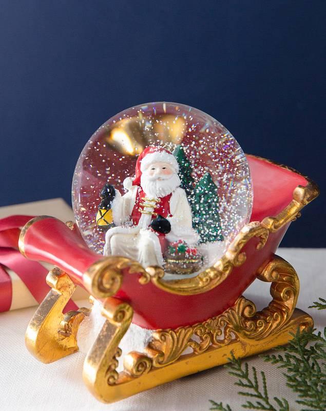 Santa's Sleigh Snow Globe by Balsam Hill SSC 10