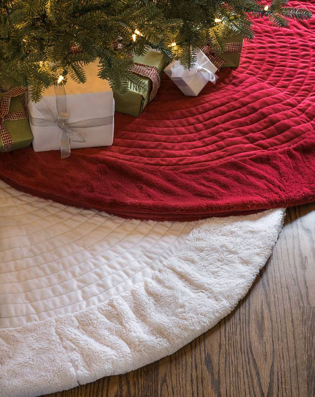 Berkshire Quilted Tree Skirt by Balsam Hill Main