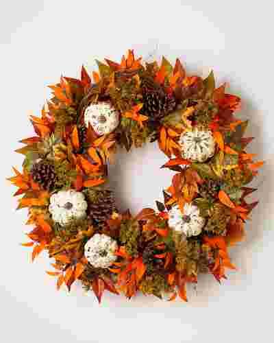 Fall Medley Wreath SSC by Balsam Hill