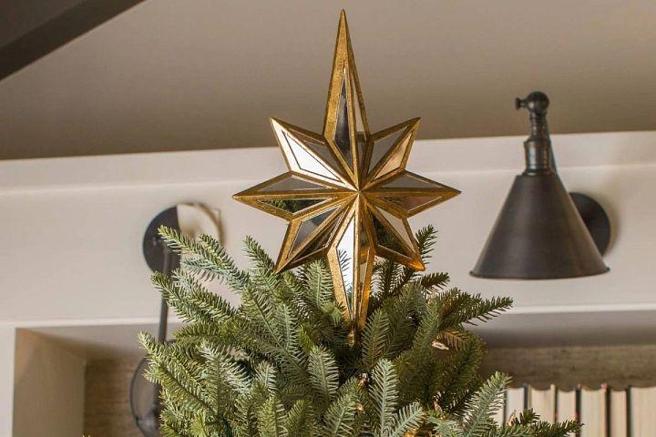 Weihnachtsbaumspitze 8-zackiger Stern