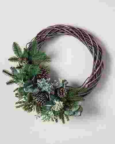 Wintergreen Woods Wreath by Balsam Hill SSC 10