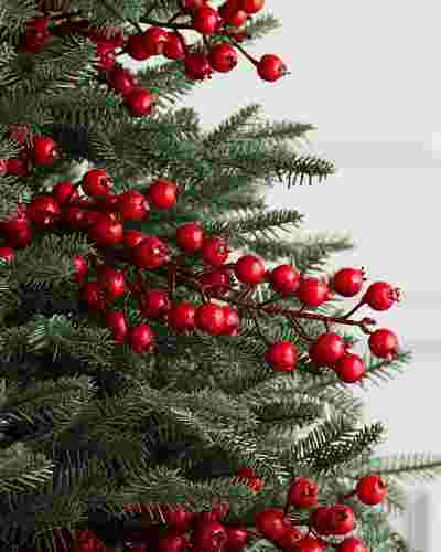 Large Red Berry Picks Set of 12 by Balsam Hill SSC
