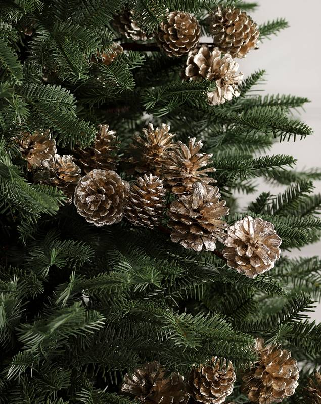 Champagne Pinecone Picks Set of 12 by Balsam Hill SSC