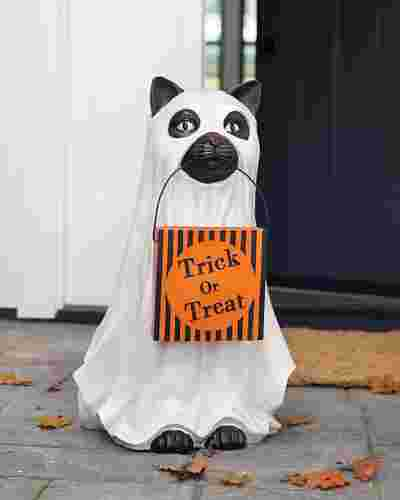 Outdoor Trick or Treat Cat by Balsam Hill SSC