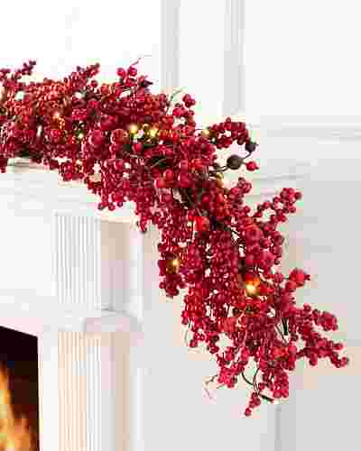 Festive Red Berry Garland by Balsam Hill