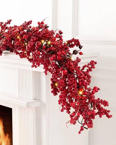 Festive Red Berry Wreath Balsam Hill
