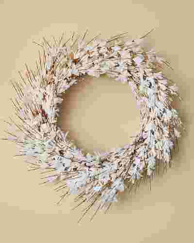 White Forsythia Wreath by Balsam Hill SSC